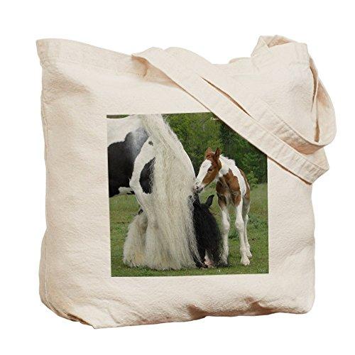 CafePress–Gypsy caballo Mare y potro Tote Bag–Natural gamuza de bolsa de lona bolsa, bolsa de la compra