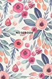 Notebook: Floral Watercolor Primary Lined Journal for Writing, Diary, Daily Planner; 150 Pages, Soft Durable Glossy…