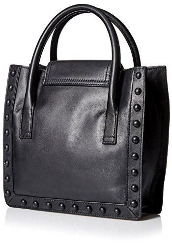 Top in Loeffler Women's Randall Bag Handle Structured Black White qB4RwB