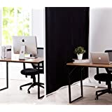 Don't Look At Me - Privacy Room Divider - White Frame with Black Fabric