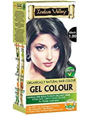 Indus Valley Gel Hair Color With 0% PPD, Ammonia, Hydrogen Peroxide, Barium With Refreshing Orange Aroma & 9 Herbs Ingredients Gives Damage Free Dark Shiny Color In Just 30 Minutes (Upto 4 Applications Black 1.0)
