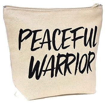 Amazoncom Natural Canvas Makeup Bag Yoga Gift Small Canvas Bag