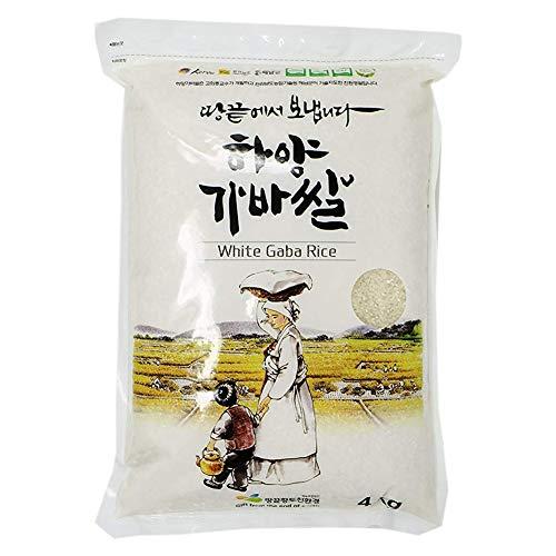 Korean Premium Sprouted White Gaba Rice, 8.8-Pound Pouches - Rice Gaba Sprouted Brown