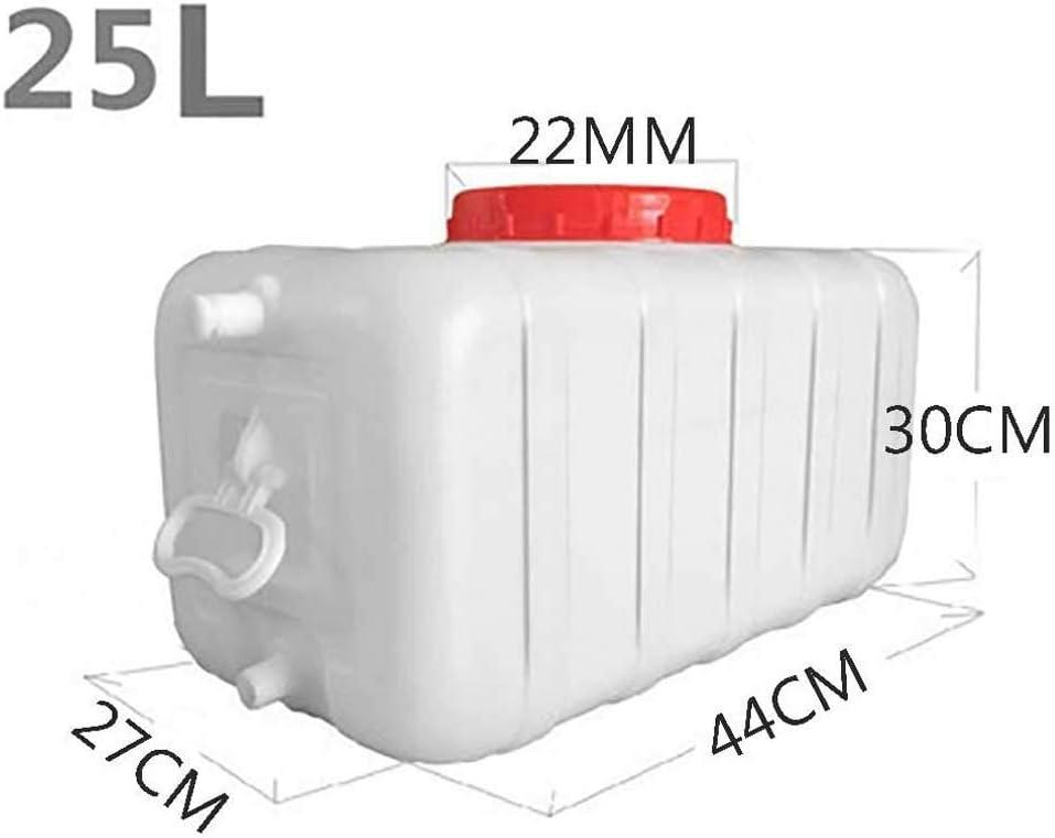 Dep/ósito de Agua para Exterior con Grifo Size:25L Pl/ástico Grueso Contenedor de Almacenamiento de Agua Cubo de Almacenamiento Port/átil para el Hogar Barril de Productos Qu/ímicos Industrial Resisten