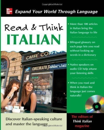 Read and Think Italian with Audio CD (Read & Think) by Think Italian! Magazine, The Editors Of Pap/Com Bl Edition (2011)