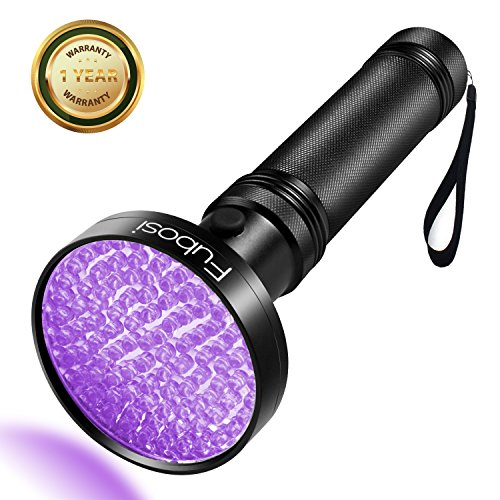 UV Flashlight - Fubosi UV Black light Flashlights 100 LED 395 nm UV Detector Light for Dog Cat Urine, Pet Stains, Bed Bugs, Scorpions, Machinery Leaks - Scorpion Bulbs