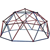 Lifetime Red/Blue Powder-coated-steel Dome Climber with Handholds Outdoor Toy For Toddlers
