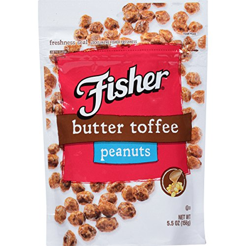 Coated Peanuts (Fisher Snack Butter Toffee Peanuts, 5.5 Ounce (Pack of 6))