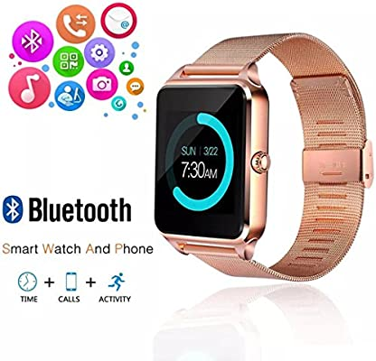 Amazon.com: Beafup - Reloj inteligente con Bluetooth y ...