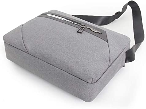 QSJY File Cabinets Mens Portable Waterproof Computer Bag 14 inch Oxford Cloth Leisure Business Bag 39/×29/×7CM Color : Gray, Size : 39/×29/×7CM