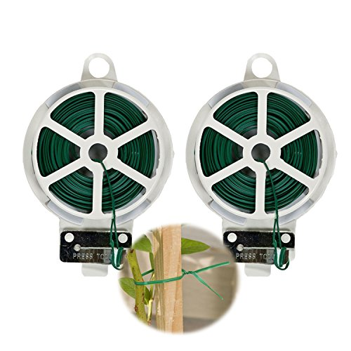 - Arology 2 Pack Plastic Sturdy Garden Twist Plant Tie Wire with Cutter, Total 200 Feet