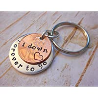1 Year Down and Forever To Go Anniversary Coin Key Chain 2016 Lucky Copper Penny