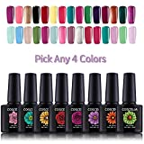 Coscelia Soak Off Gel Nail Polish Sets Glitter UV LED Gel Polish Set Manicure Varnish Kit 10ml-Pick any 4 Colors
