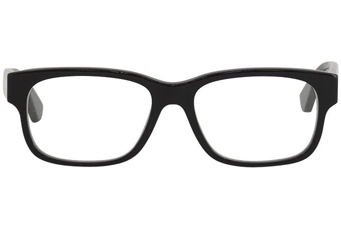 89da6efa82 Amazon.com  Gucci GG0343O Eyeglasses 007 Black Multicolor 57 mm  Clothing