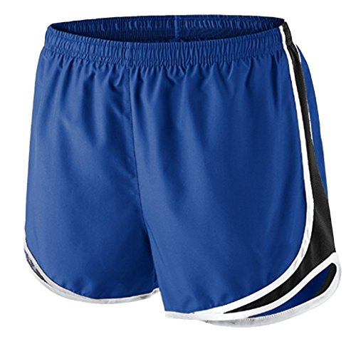 Epic MMA Gear Ladies Moisture-Wicking Track & Field Running Shorts by (Royal/White)