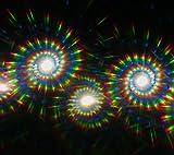 Black Spiral Diffraction Glasses - for