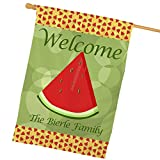 Personalized Watermelon House Flag, All-Weather, 29″w x 43″h Review