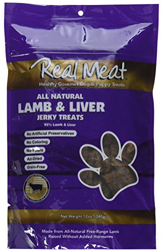 THE REAL MEAT COMPANY 828013 Dog Jerky Lamb Liver Treat, 12-Ounce