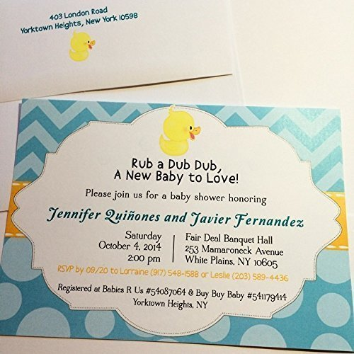 Rubber Ducky Baby Shower Invitations ()