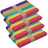 Zicome 200 Pack Colored Jumbo Craft Sticks, 6 Inch