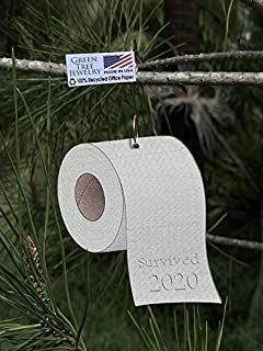 product image for Green Tree Jewelry 100% Recycled Paper - Jumbo Roll Toilet Paper Ornament - Survived 2020