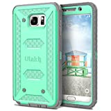 Note 5 Case, Galaxy Note 5 Case, ULAK Hybrid KNOX ARMOR Heavy Duty Shockproof Dual Layer Protective Case for Samsung Galaxy Note 5 Device (Green)
