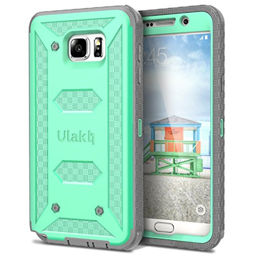 ULAK Knox Armor Full-Body Rugged Dual Layer Design Bumper Case for Samsung Galaxy Note 5 - Built with Belt Clip Holster W/Car Charger Bundles (Green)