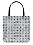 Gear New Shoulder Tote Hand Bag, 100 Architecture Icons, 13x13, 5783734GN