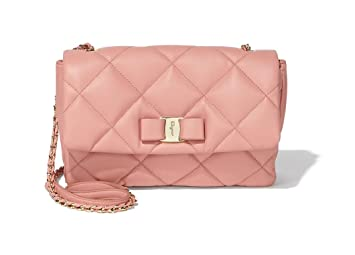 Amazon.com  Salvatore Ferragamo Women s Medium Quilted Vara Flap Bag ... 8f5bd3b1bde4b