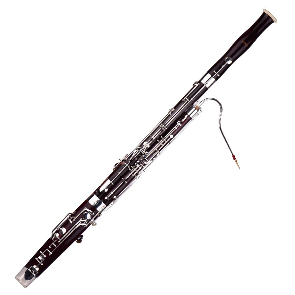 Bassoon,C Key Bassoon Fagotto Woodwind Instrument with Maple Wood Body by Muslady