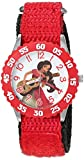 Disney Girl's 'Elena of Avalor' Quartz Stainless Steel and Nylon Watch, Color:Red (Model: W003039)