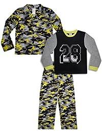 Mad Dog Boy's 3-Piece Pajama Set – Camo, Dinosaur, and Sports Prints