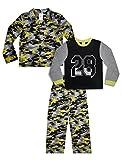 Mad Dog Boy's 3-Piece Pajama Set – Camo and Sports Prints (Black/Yellow Camo, Medium (8))