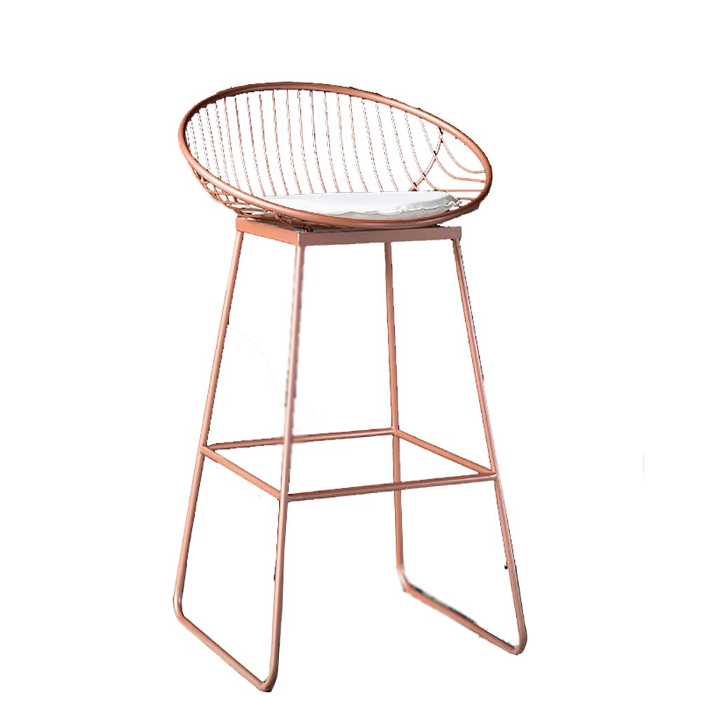 Pink 72CM Breakfast Bar Stool,Kitchen Stool Bar Stool  Home Counter,Pu Counter Iron Frame Easy to Clean Ergonomics, Sitting Height 62,72 cm