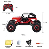 RC Car, TOPQSC Remote Control Car 1:16 Scale 2.4GHZ 4WD High Speed Electric RC Rock Crawler Hobby Car with 4 Wheel Drive Off Road Fast Radio Control Desert Buggy Vehicle Monster Truck Red