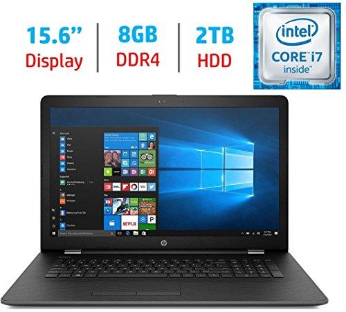 HP 15.6'' HD (1366x768) SVA BrightView WLED-backlit Laptop PC, Intel Core i7-7500U 2.7GHz Processor, 8GB DDR4 RAM, 2TB HDD, Intel HD Graphics 620, HDMI, Bluetooth, DVD +/- RW, Windows 10