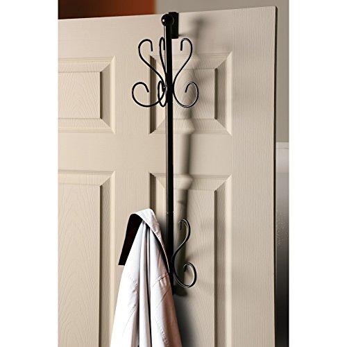 Bandwagon Overdoor Hanging Coat Rack - 10 Hooks - Wrought Ir