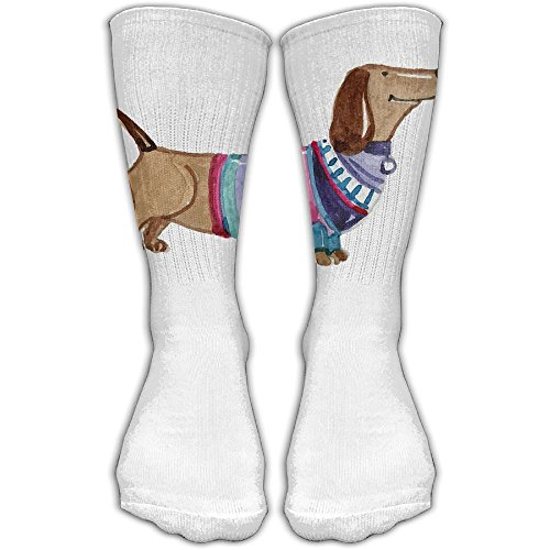 Brown Dachshund Women & Men Socks Soccer Sport Tube Stockings Length 30cm