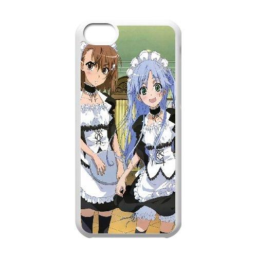 L1A33 Misaka Mikoto et l'indice d'un certain indice magique C0G1NJ cas d'coque iPhone de téléphone cellulaire 5c couvercle coque blanche RV1KGX3SE