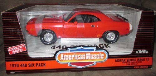 1970 Dodge Challenger Orange 440 Six Pack - Ertl 1/18 Die Cast Model Car - American Muscle LE 1 of 3000 ()