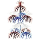 Firework Chandelier [12 Pieces] - Product Description - Firework Chandelier. Color:Red, White, Blue. Doubles As A Centerpiece. Size:24'' X 12''.All Sales Final, No Returns. ...