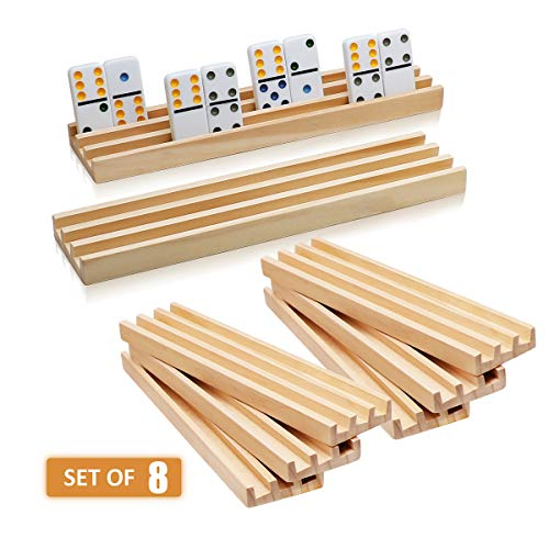 Wooden Domino Racks Set