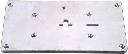 KUNSE Aluminio Inmersión Mesa Enrutador Insertar Placa Tamaño ...