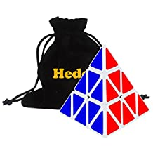 Heddi Speedcubing Puzzle Pyraminx Triangle Cone Shaped Magic Cube Color White