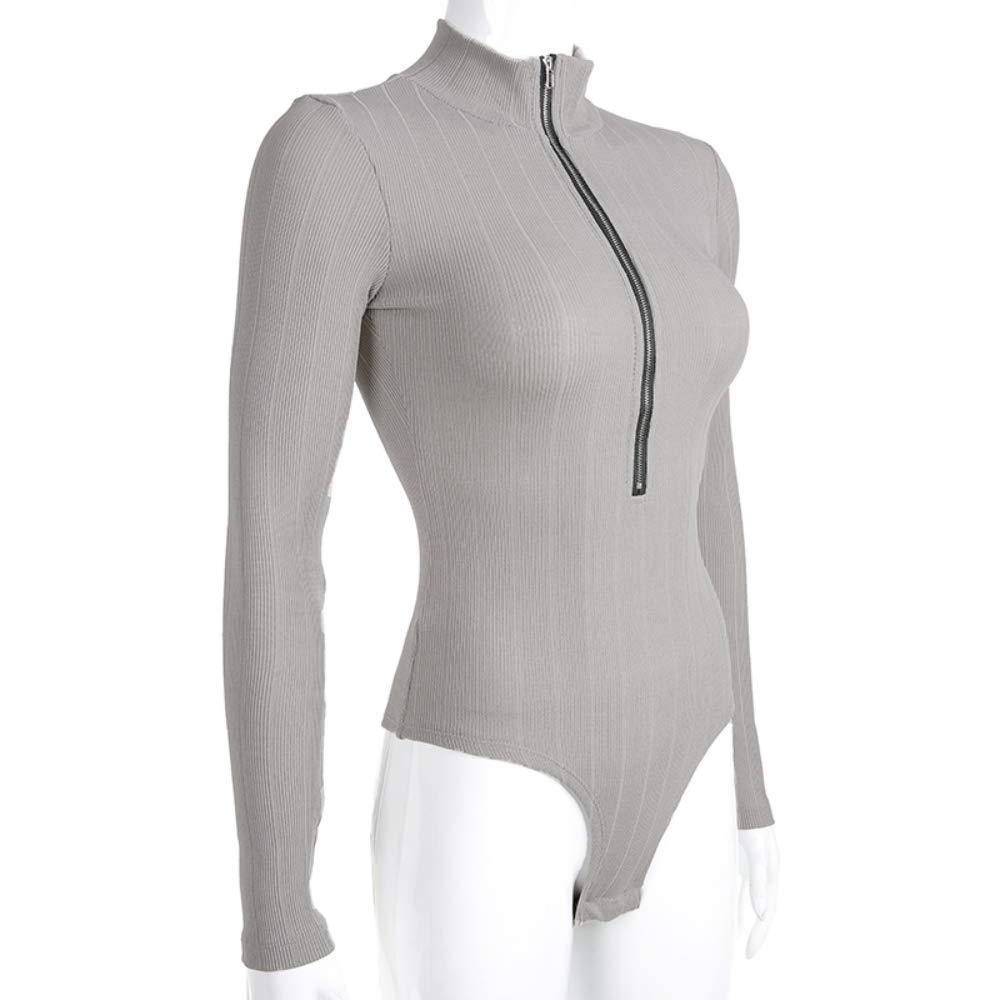 LITRON Turtleneck Bodycon Body Women Casual Long Sleeve Bodysuits Jumpsuits Skinny Basic Bodysuit