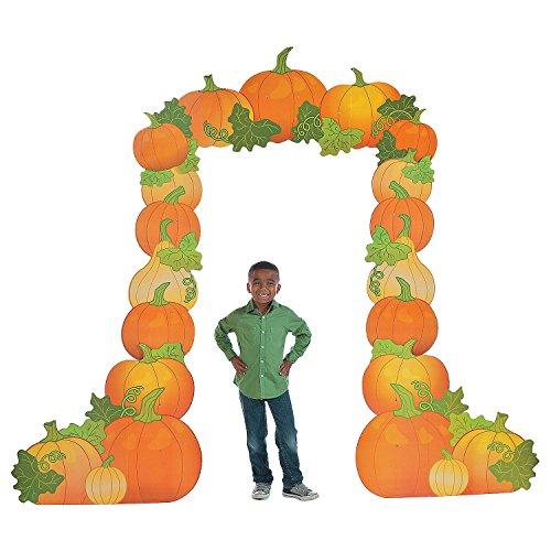 Pumpkin Arch Cardboard Stand-Up -
