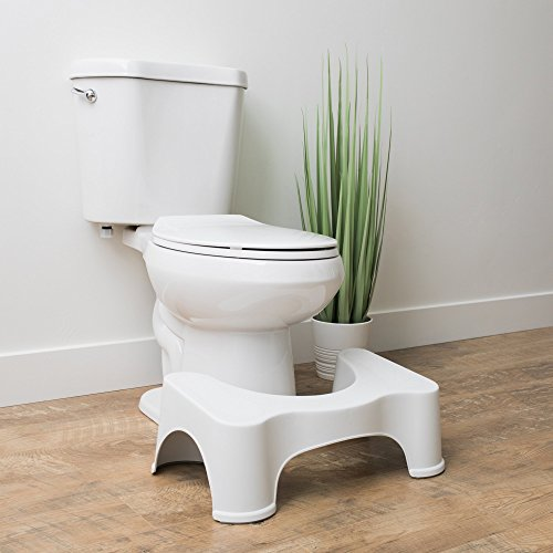 Squatty Potty Original Bathroom Toilet Stool, White, 7""