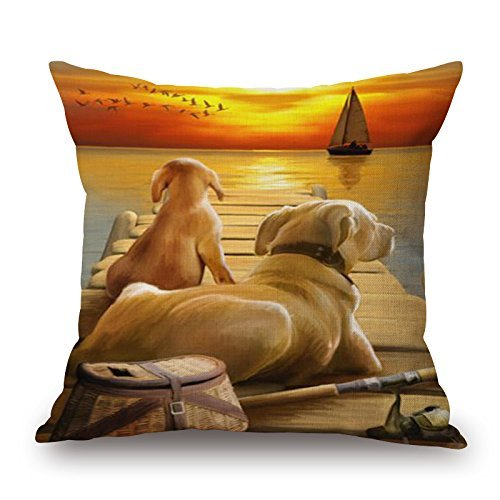 beautifulseason The Dog Throw Cushion Covers Of,20 X 20 Inches/50 By 50 Cm Decoration,gift For Lover,monther,deck Chair,chair,son,study Room (each Side) ALovjp