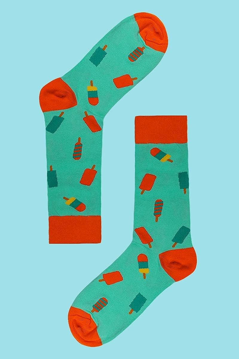 Mens Fun Pattern Funky Colorful Crew Socks Casual Dress Socks 4 Pack