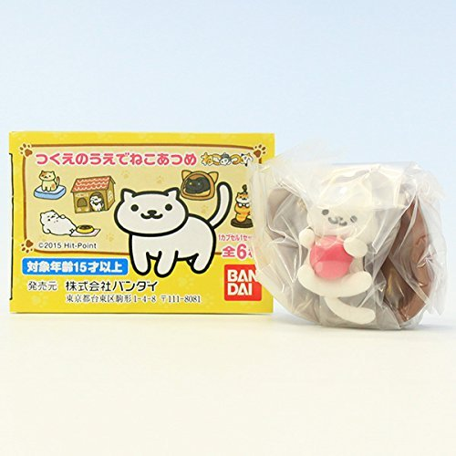 (Bandai Shironeko's & Rubber ball (red) and stump (cats gathered figures gathered cat on the desk goods)
